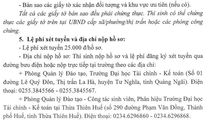 Dai hoc Tai chinh - Ke toan xet tuyen bo sung nam 2021