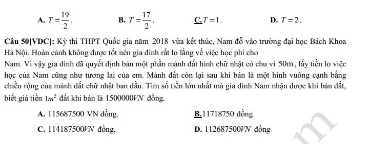 De thi giua ki 1 lop 12 mon Toan 2021 - THPT Chu Van An