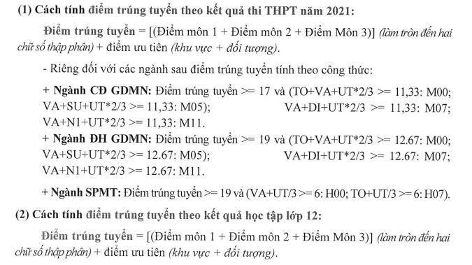 Diem chuan bo sung Dai hoc Dong Thap 2021
