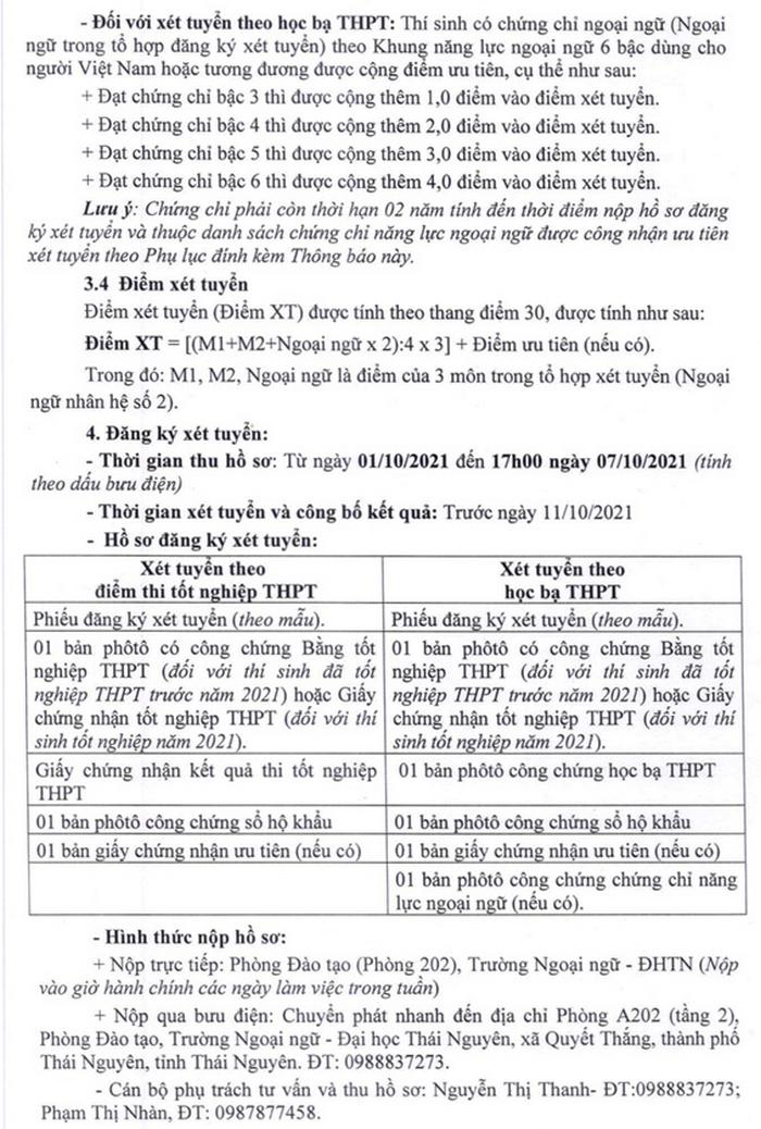 Truong Ngoai ngu - DH Thai Nguyen xet tuyen dot 2/2021