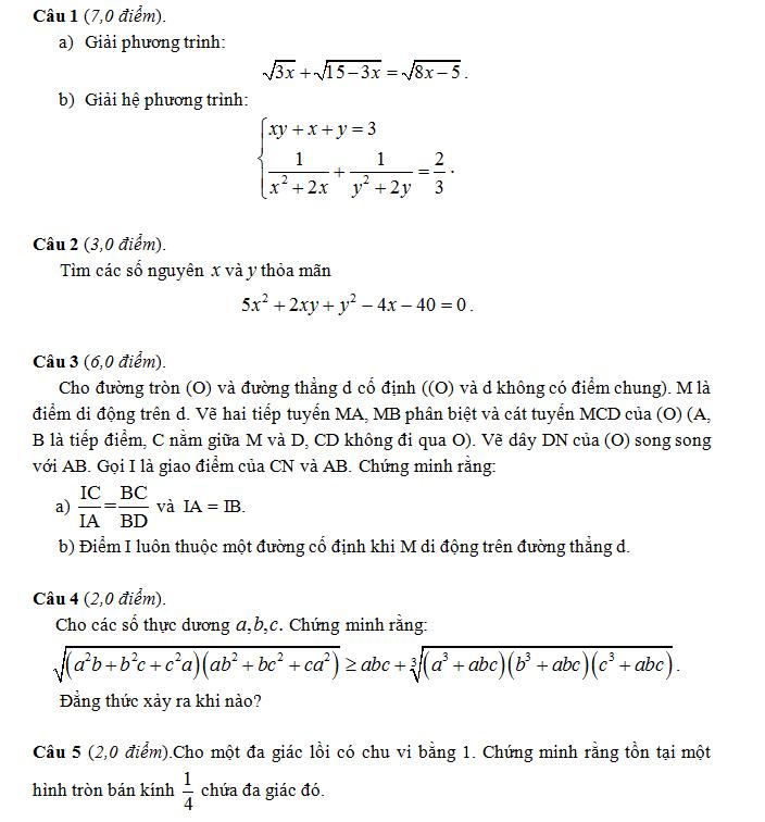 Điểm thi lớp 10 năm 2012 2a651b6ca96a9a598e611c6cbeea91ea 45156370.chuyennghean Đáp án đề thi môn toán lớp 10 chuyên NGHỆ AN năm 2012