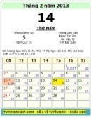 Valentine 2013 vào ngày nào?