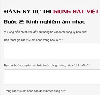 Cach dang ky giong hat viet 2013 - The voice