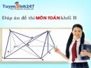 Đáp án đề thi môn toán khối B năm 2013