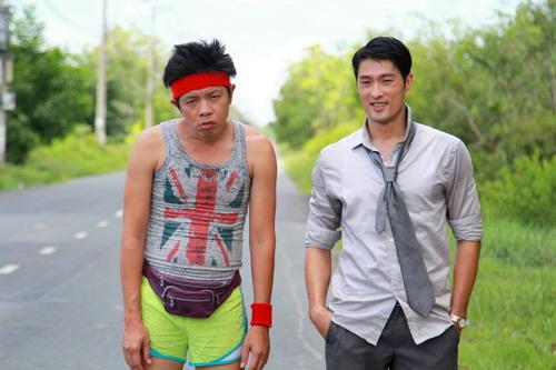Tạo hình nhân vật Tèo (Thái Hòa) và Tí (Johnny Trí Nguyễn) trong phim.