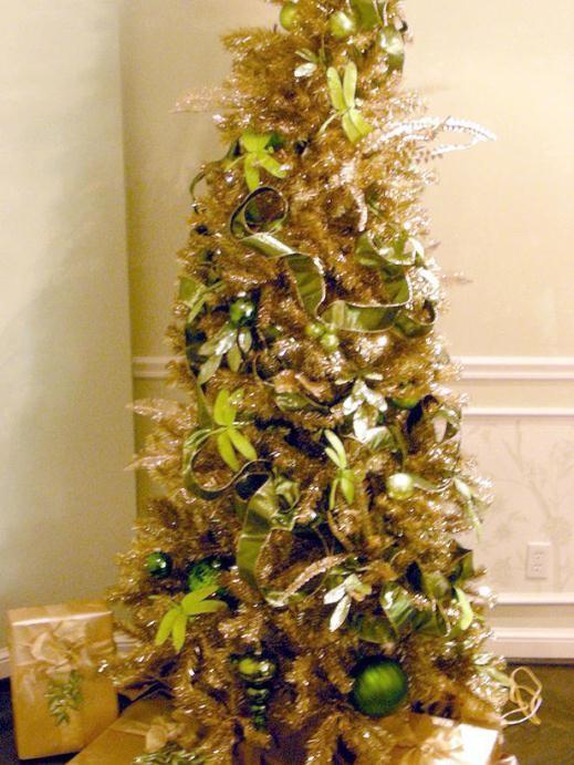 cách trang trí cây thông Noel, màu vàng, giáng sinh