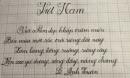 Những nét chữ đẹp như in của thầy giáo và học sinh