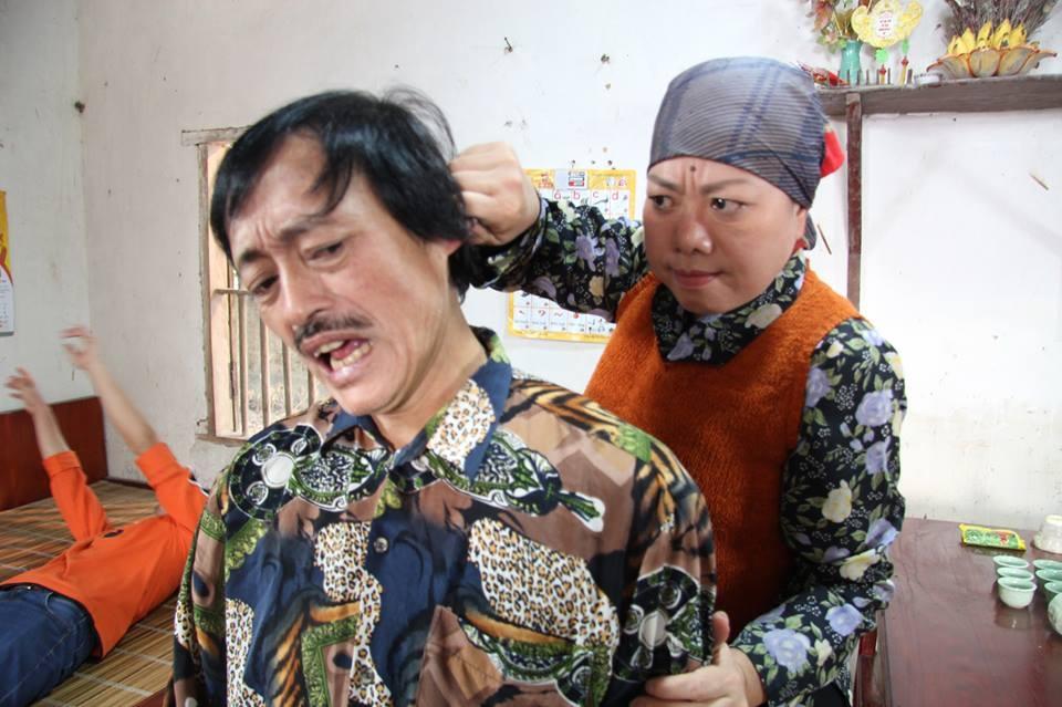 Một cảnh quay của diễn viên Giang Còi