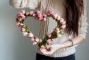 Tự tay làm trái tim hoa hồng lãng mạn cho người yêu