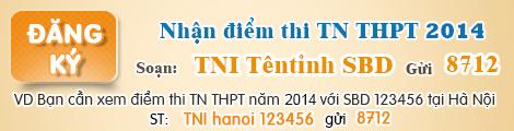 Dap an chinh thuc tot nghiep mon Toan nam 2014 cua Bo GD&DT