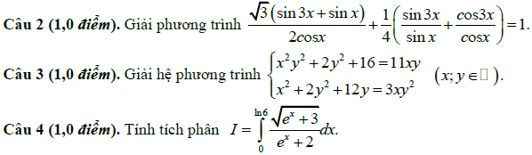 De thi thu dai hoc mon Toan khoi A,A1 nam 2014 lan 5 THPT chuyen Bac Ninh