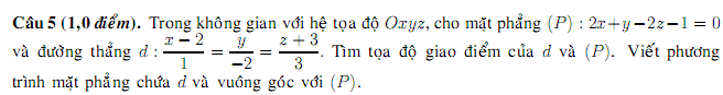 Dap an de thi dai hoc mon toan khoi A nam 2014