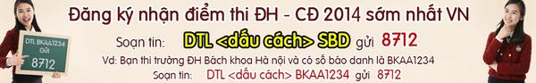 Thoi gian cong bo diem thi dai hoc nam 2014