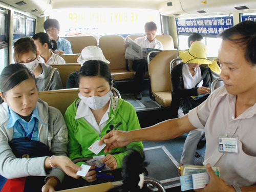 Kinh nghiem di xe bus cho tan sinh vien