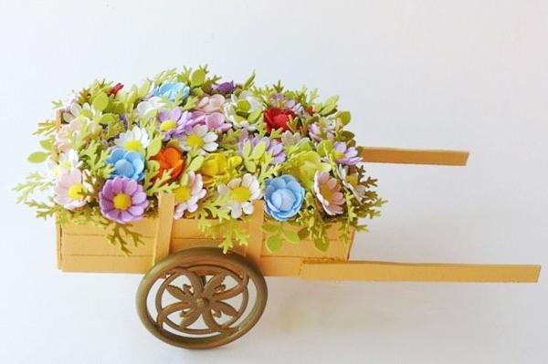 Cach lam xe keo cho hoa dep me ly tang nang ngay 20/10