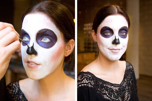Hướng dẫn vẽ mặt nạ ấn tượng ngày Halloween - 5