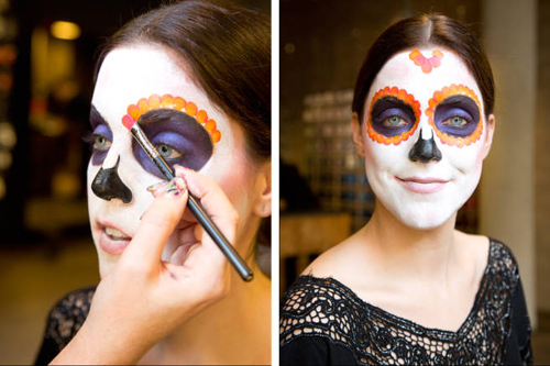 Hướng dẫn vẽ mặt nạ ấn tượng ngày Halloween - 6