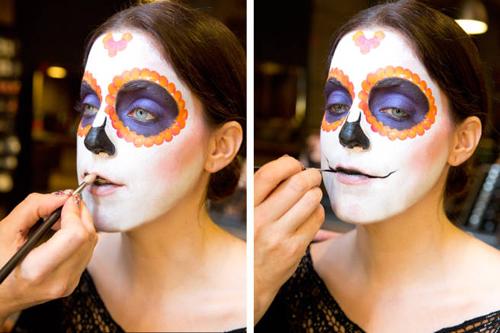 Hướng dẫn vẽ mặt nạ ấn tượng ngày Halloween - 7