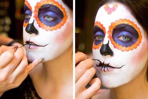 Hướng dẫn vẽ mặt nạ ấn tượng ngày Halloween - 8
