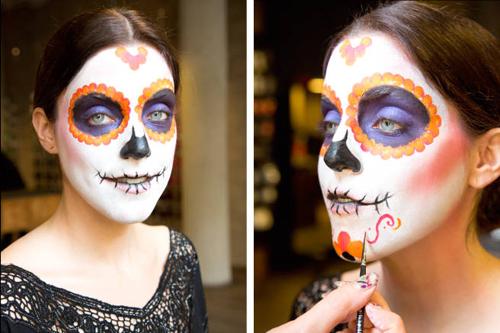Hướng dẫn vẽ mặt nạ ấn tượng ngày Halloween - 9
