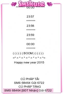 SMS kute chuc tet 2015 hay va y nghia nhat