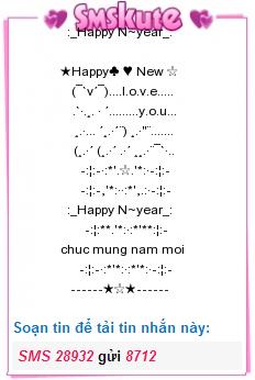 Tin nhan hinh chuc mung nam moi 2015