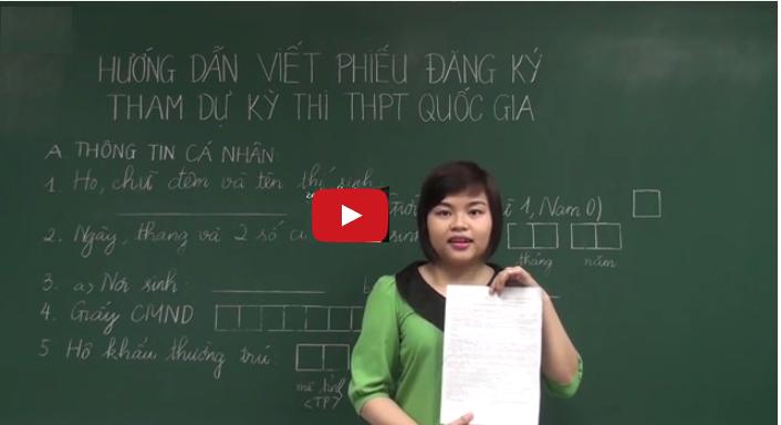 Huong dan dien phieu dang ky du thi THPT QG 2015 (Video)