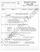 Đề thi học kì 2 lớp 4 môn Sử, Địa 2016 – TH Trần Quang Khải