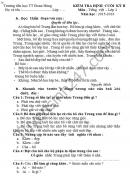 Đề thi học kì 2 lớp 2 môn Tiếng Việt - TH TT Đoan Hùng 2016