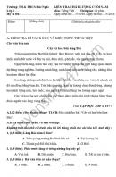 Đề thi học kì 2 lớp 2 môn Tiếng Việt - TH&THPT Húc Nghì 2016