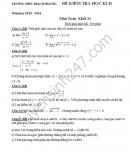 Đề thi học kì 2 lớp 11 môn Toán - THPT Thạch Thành 1 năm 2016