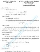 Đề thi học kì 2 lớp 8 môn Toán 2016 - Sở GD Bắc Giang