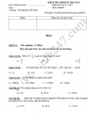 Đề thi học kì 1 lớp 5 môn Toán - TH Nguyễn Viết Xuân năm 2016-2017 có đáp án