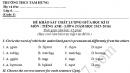Đề thi giữa kì 2 lớp 6 môn Anh năm 2016 - THCS Tam Hưng