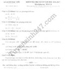 Đề thi học kì 2 lớp 8 môn Toán - Sở GD Bạc Liêu