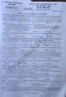 Đề thi vào lớp 10 bài thi tổng hợp tỉnh Nam Định 2017
