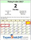 Quốc khánh 2/9/2017 vào thứ mấy và được nghỉ mấy ngày?