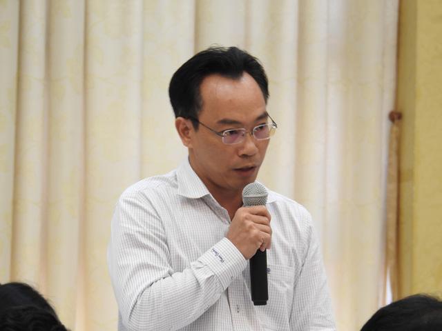 ông Hoàng Minh Sơn, Hiệu trưởng Trường ĐH Bách khoa Hà Nội tại Hội nghị (ảnh: Đình Tuệ)