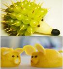 Cách tạo hình chú chuột và nhím dễ thương cho mâm cỗ Trung Thu
