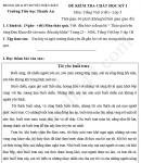 Đề thi giữa học kì 1 lớp 5 môn Tiếng Việt - TH Thanh An