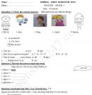 Đề thi giữa kì 1 lớp 3 môn Tiếng Anh 2017 - TH Lê Quý Đôn