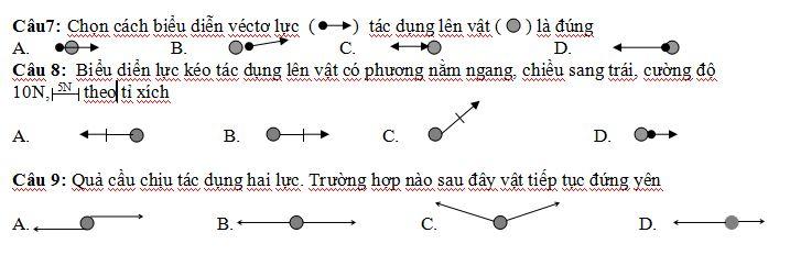 Kiểm tra giữa kì 1 Vật lý 8