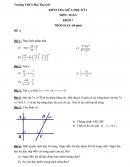 Đề khảo sát giữa kì 1 lớp 7 môn Toán - THCS Phú Thọ Q11