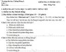 Đề thi kì 1 lớp 2 môn Tiếng Việt năm 2017 - TH Chiềng Đông A