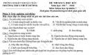 Đề thi kì 1 lớp 7 môn Lý THCS Nhuế Dương năm 2017