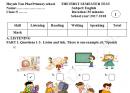 Đề thi kì 1 lớp 5 môn Tiếng Anh TH Huỳnh Tấn Phát 2017 - 2018