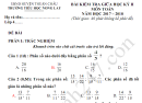 Đề thi giữa kì 2 lớp 4 môn Toán 2018 - TH Nong Lay