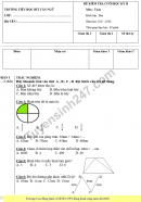 Đề thi học kì 2 môn Toán lớp 2 - Trường tiểu học Bùi Văn Ngữ