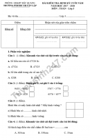 Đề kiểm tra học kì 2 lớp 3 môn Toán - PTDTBT TH Tân Lập 2018