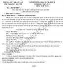 Đề kiểm tra học kì 2 lớp 8 môn Văn - Phòng GD&ĐT Thị xã Long Khánh 2018